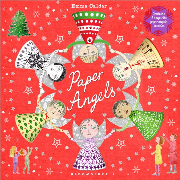Christmas Book with cut out angels