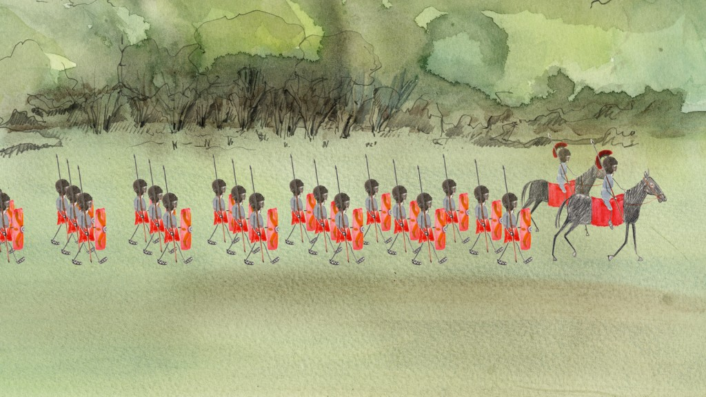 Roman Soldiers march towards Mancetter
