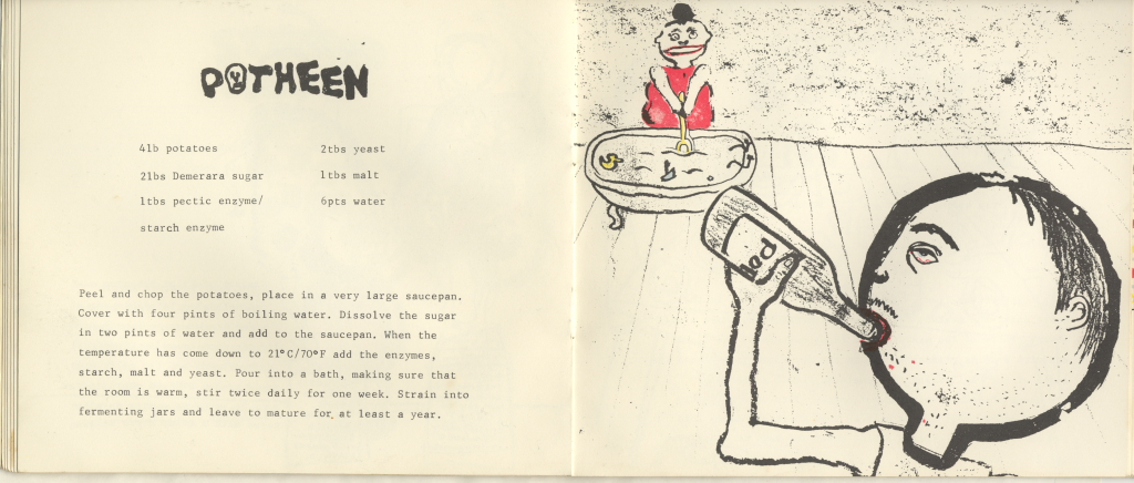 Poteen Recipe from Madame Potatoe Cookbook by Emma Calder
